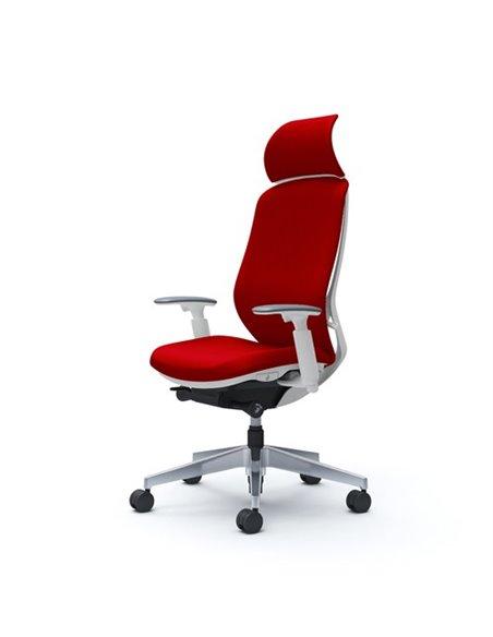 Крісло OKAMURA SYLPHY EXTRA HIGH FABRIC WHITE для керівника