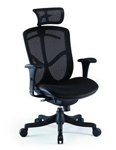 Крісло COMFORT SEATING BRANT SIMPLE (BRSS-HBM-F) з тканинним сидінням, з підголовником, для оператора